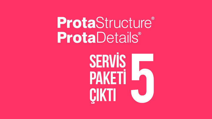 ProtaStructure Suite 2016 Servis Paketi 5 Çıktı
