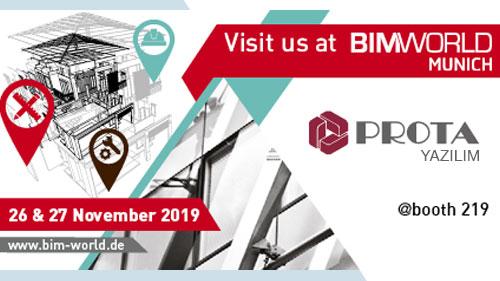 BIM World 2019 Münih'te ProtaStructure'ı Keşfedin